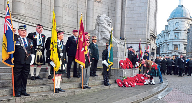 The forces will get together to remember those who lost their lives in battle