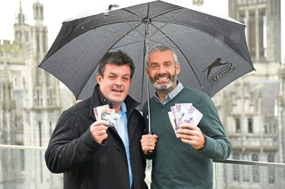 Alan Phillips and Guy Andrews gave £3,000 to Charlie House