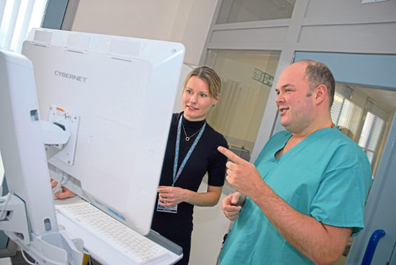 The new, £700,000 computer system has been installed at Aberdeen Royal Infirmary's intensive care unit, replacing traditional bedside charts
