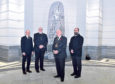 Sculpture designer Gordon Burnett, the Reverent Hutton Steet, Lord Provost Barney Crockett and religious leader Emad Jodeh