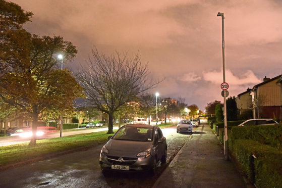 Graham Allison says the lights on Provost Rust Drive pose a danger to pedestrians