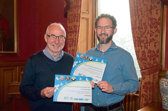 Jim Lee and Greg Welsh from Bonnymuir Green Community Trust