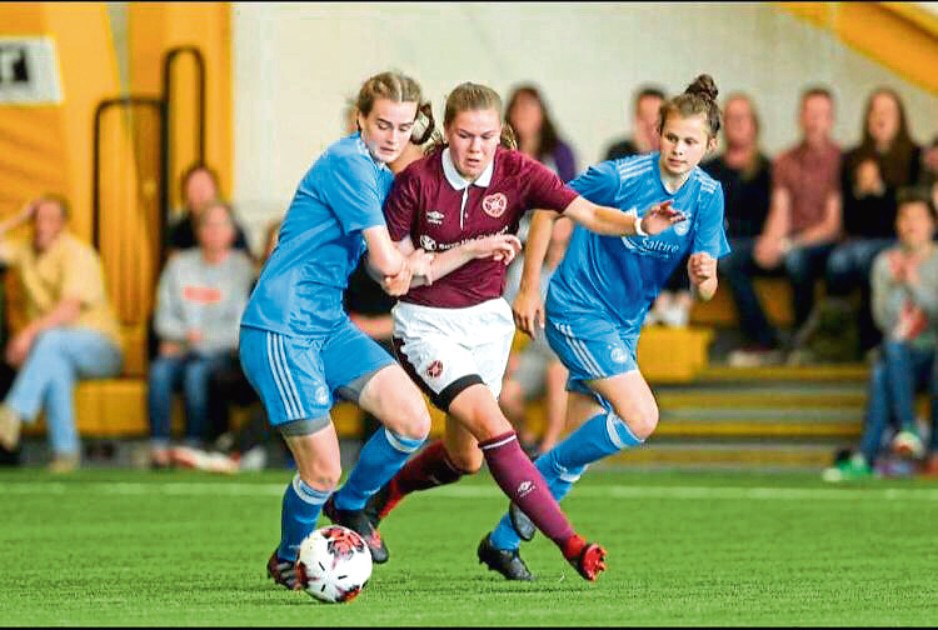 Mairi Whittingham, of the Aberdeen FC Ladies Under-19s squad, in action.