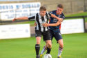 Fraserburgh's Andrew Hannar, front. Picture by Kath Flannery