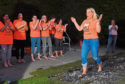 Firewalk in aid of Charlie House at Newmachar Hotel.