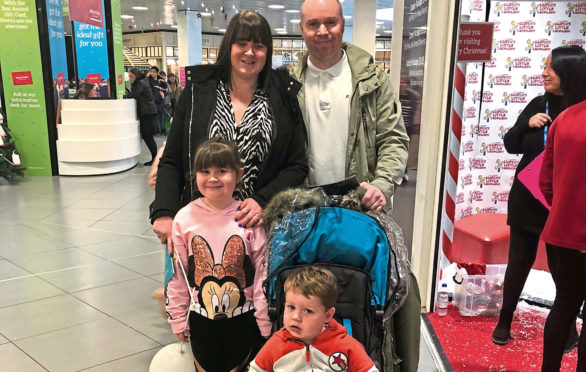 Jill and Dave Whyte with Georgie-Mae, 5, left, and Noah