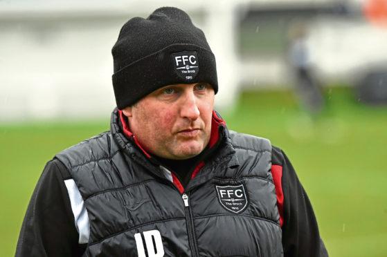 Fraserburgh assistant manager James Duthie.
