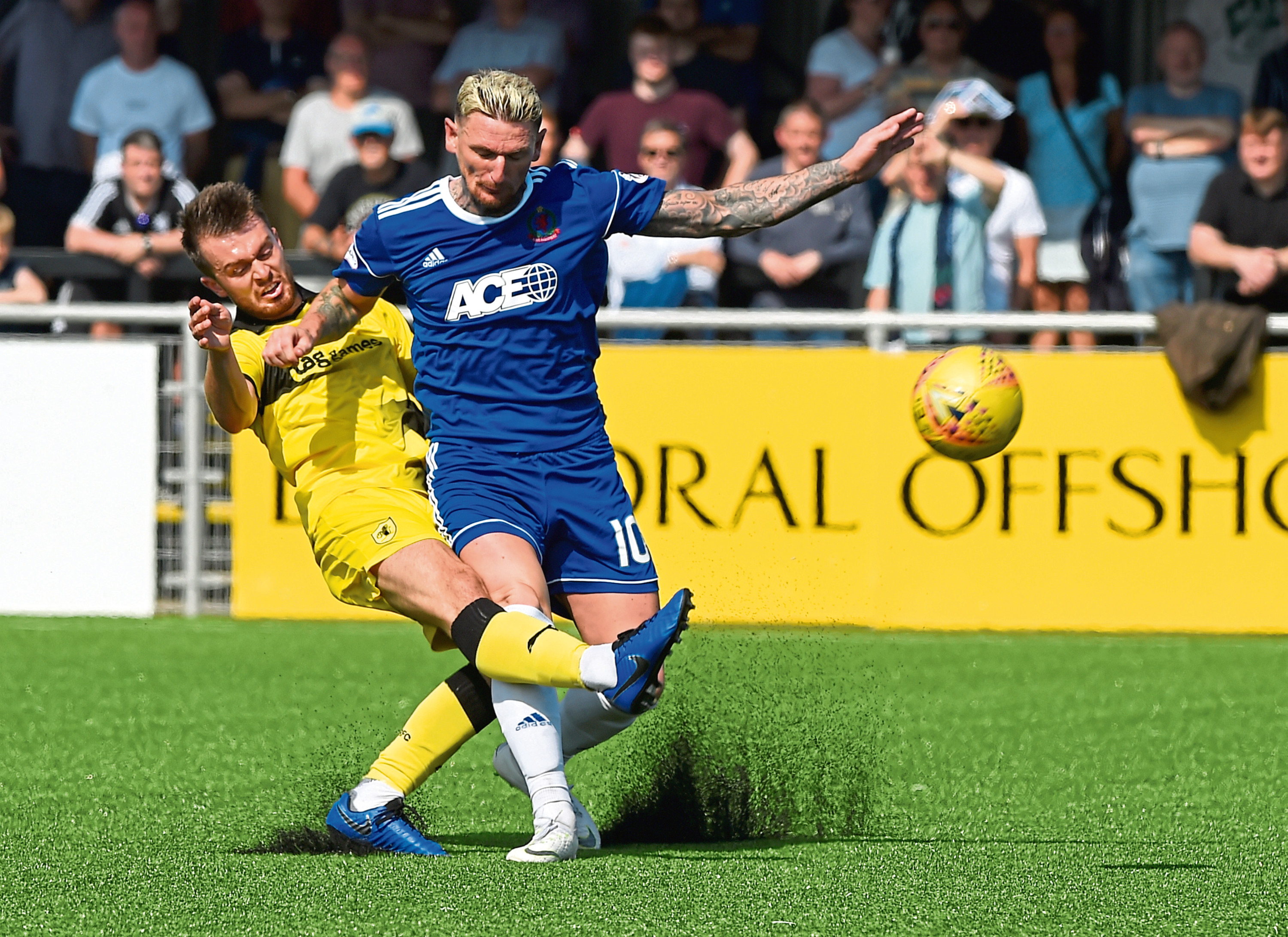 Martin Scott in action for Cove.