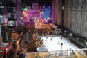 A view of the Christmas Village and ice rink on Broad Street. Picture by Kenny Elrick