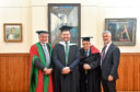 Proud moments for Steyn family members David, David Steyn, John and Michael