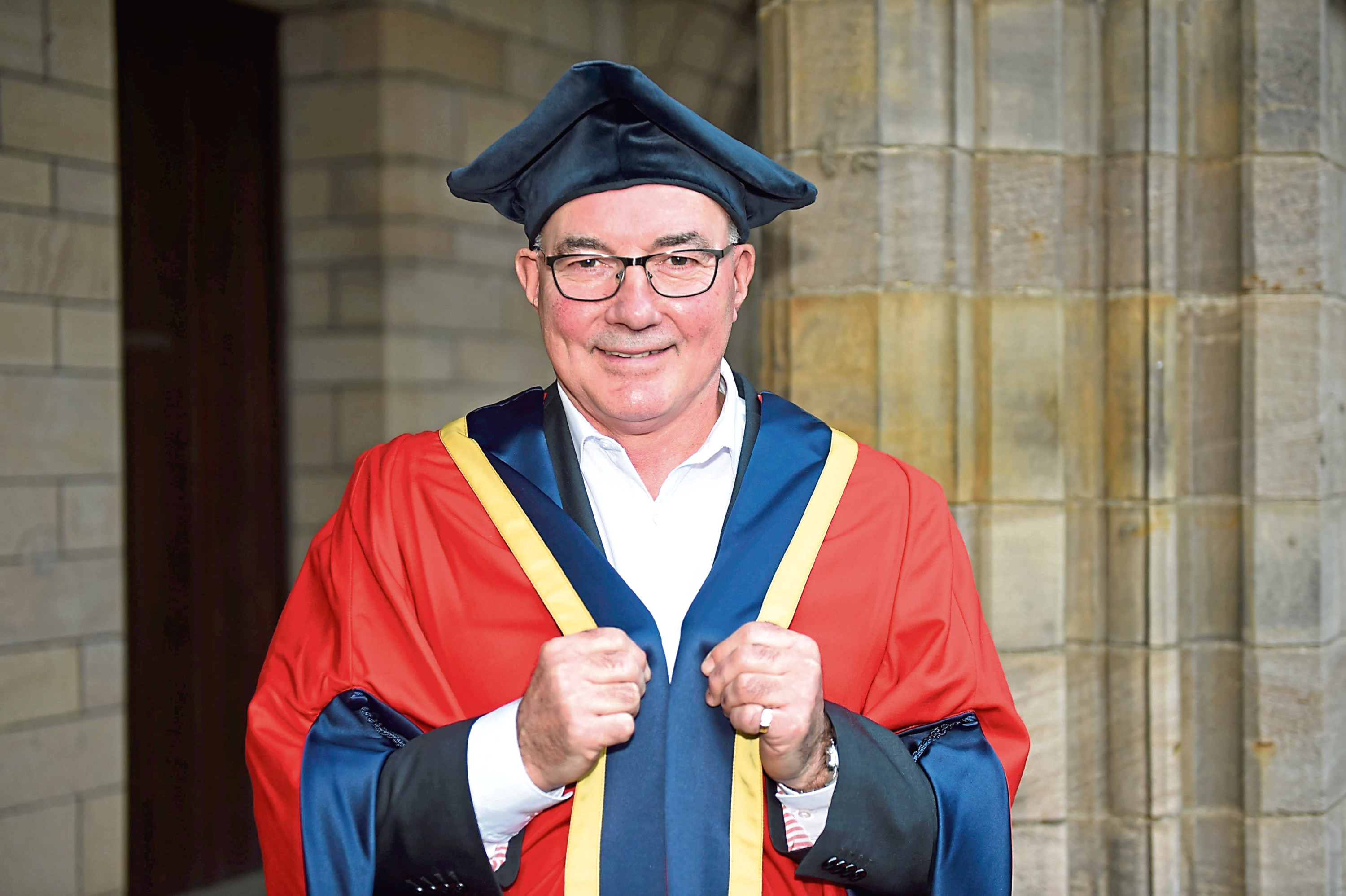 Former Dons captain Willie Miller gets his honorary degree from Aberdeen University