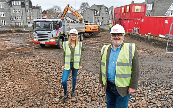 Dr Kenneth Simpson, Chief Executive of VSA, and Jennifer Mitchell, director of external relations, at the new site at 450 Holburn Street, Aberdeen
