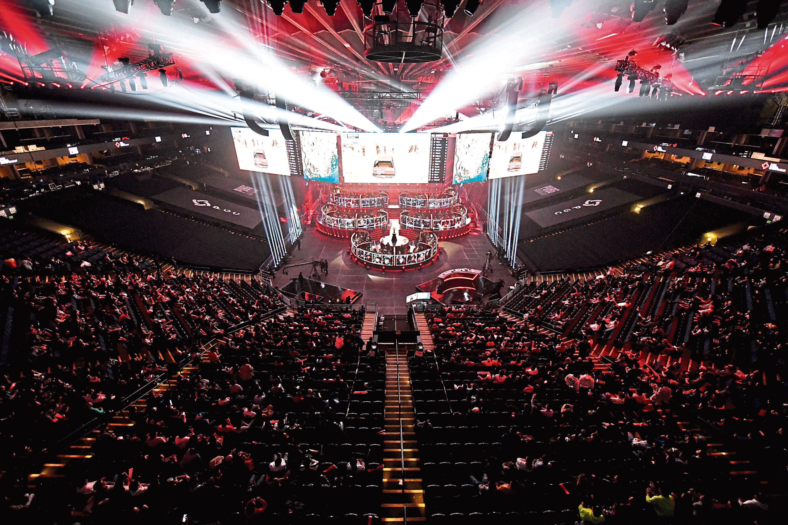 Teams participate in a match during the PUBG Global Championship 2019 Grand Finals at Oakland Arena, California, earlier this month
