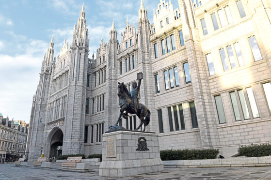 Aberdeen City Council's headquarters at Marischal College