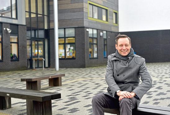 Liam Kerr at Hillside School in Portlethen