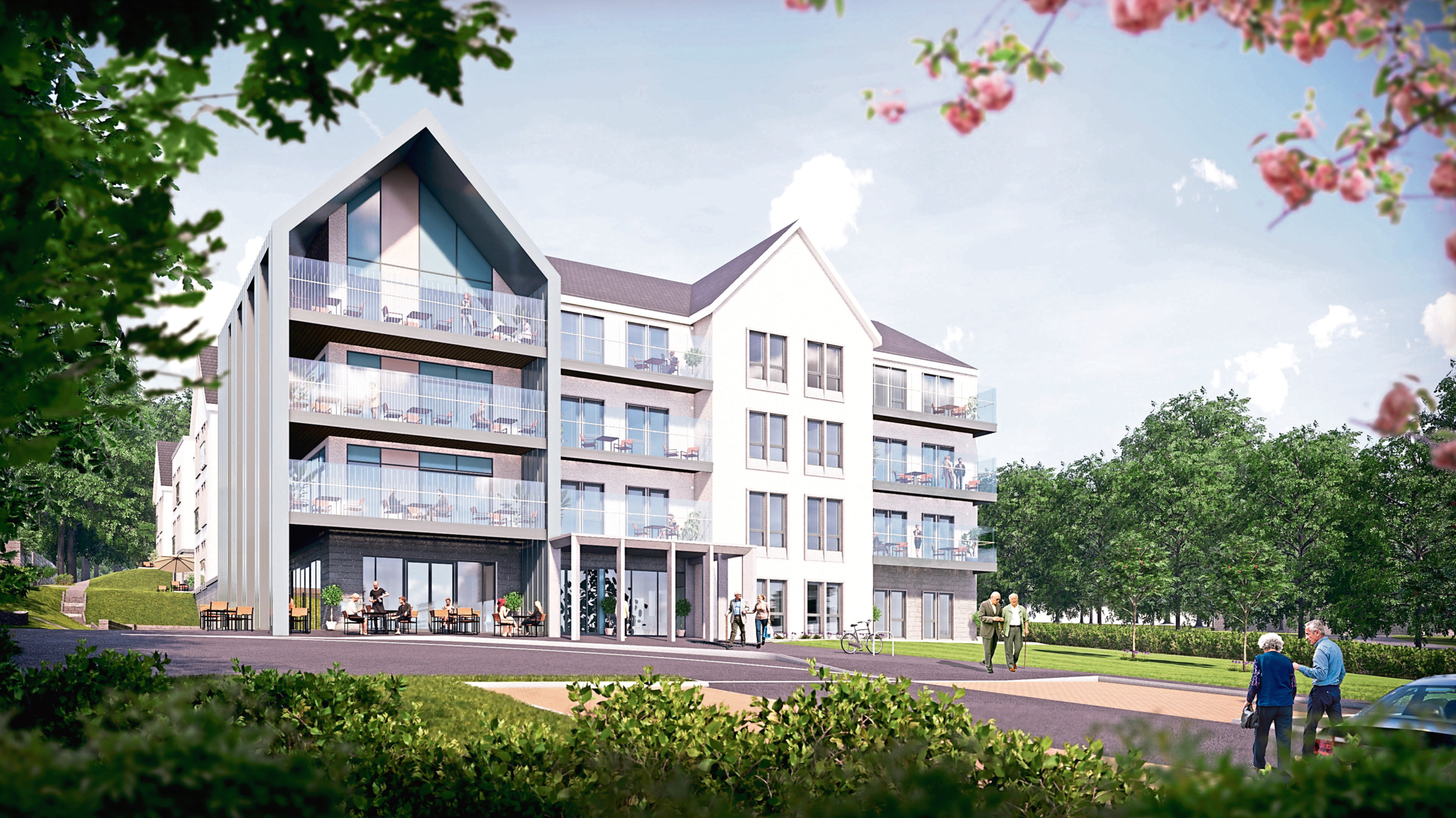 The proposed care home next to the Marcliffe Hotel