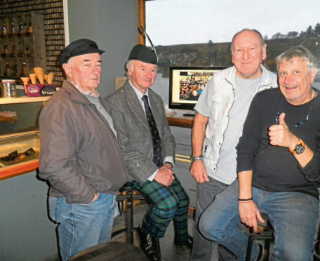 Storytellers, from left, Ian Balgowan, Richard Holman-Baird, Phil Mills-Bishop and Dominique Mancellon have been telling tales of Stonehaven harbour