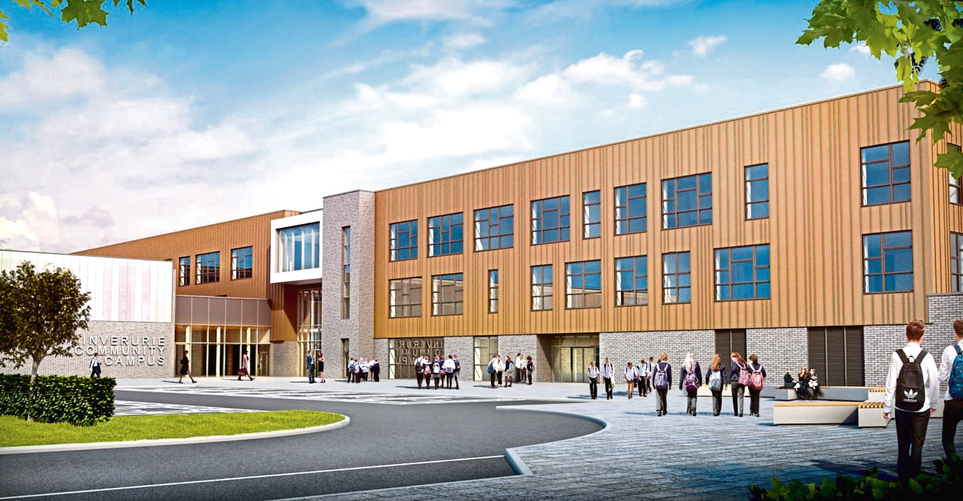 Artist's impression of the new Inverurie community campus.