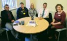 MSP Mark McDonald with a team from Marie Curie