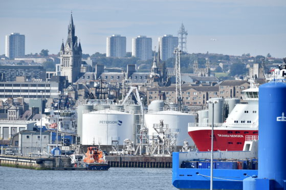 Emergency crews were called to Aberdeen Harbour this afternoon