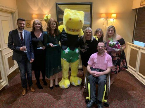 Jamie Murray, Louise Williams, Siobhain Leith, NSPCC mascot Pantosaurus, Mo Simpson, Gillian McPherson, Kaysay Riddell, Kelsey Pierce