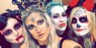 Krissy Caton dressed as Medusa at the Halloween fundraiser
