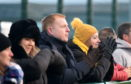 Celtic manager Neil Lennon attended the game, which took place on Dyce's astroturf pitch. Picture by Paul Glendell