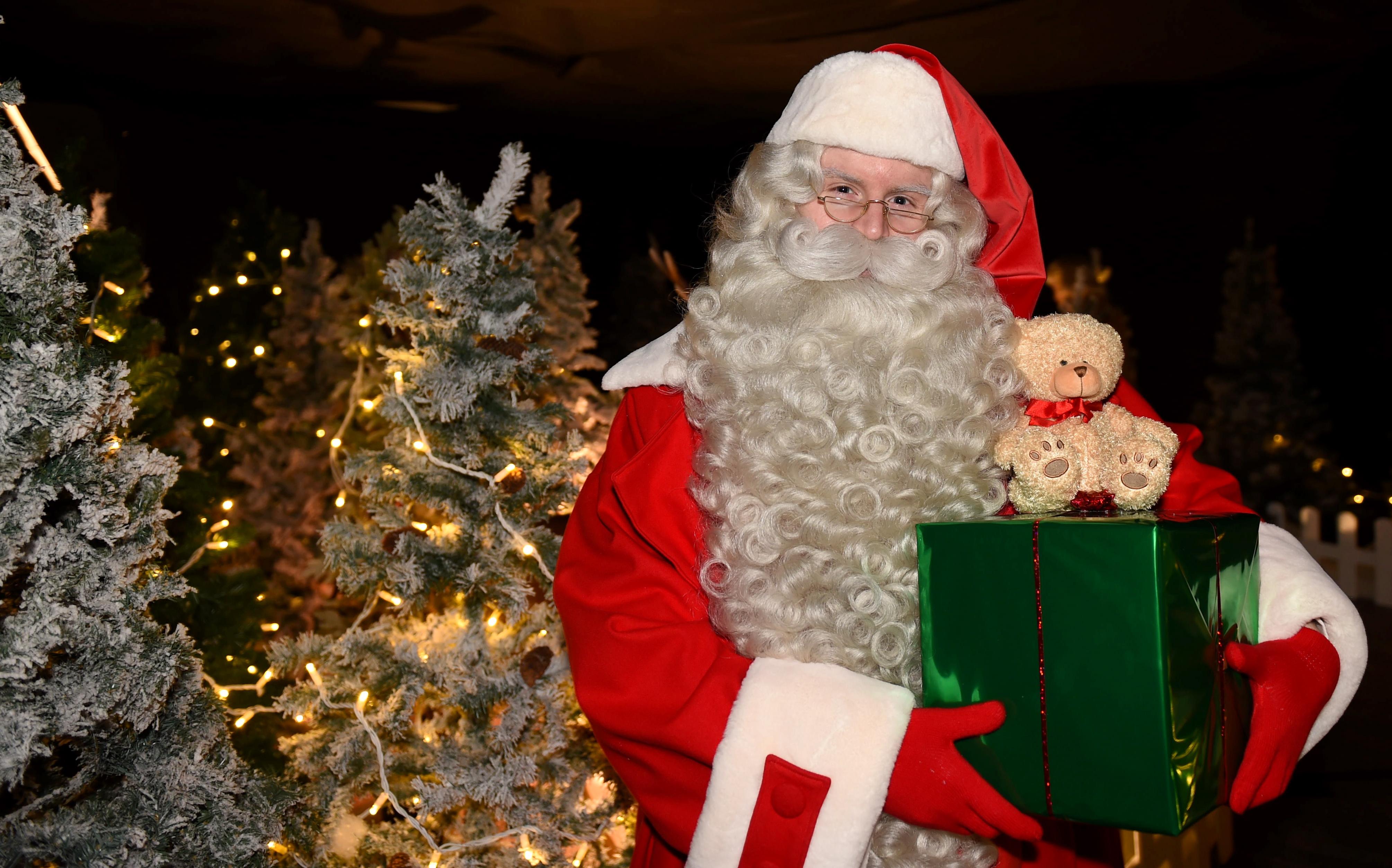 Santa was seen setting up at the grotto