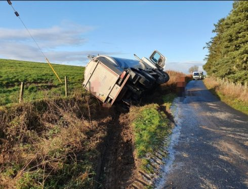 The crashed happened on an unclassified road near Fyvie