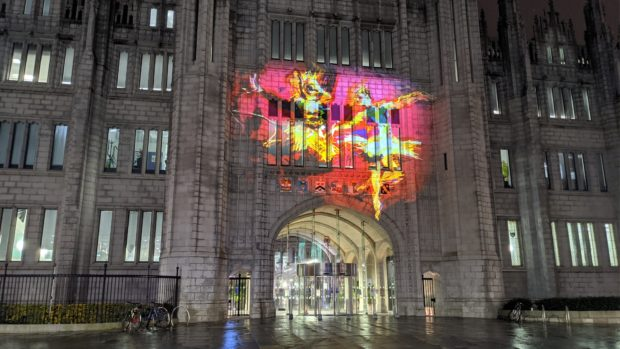 The image on Marischal College