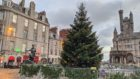 The Christmas Tree at the Castlegate will be switched on tomorrow