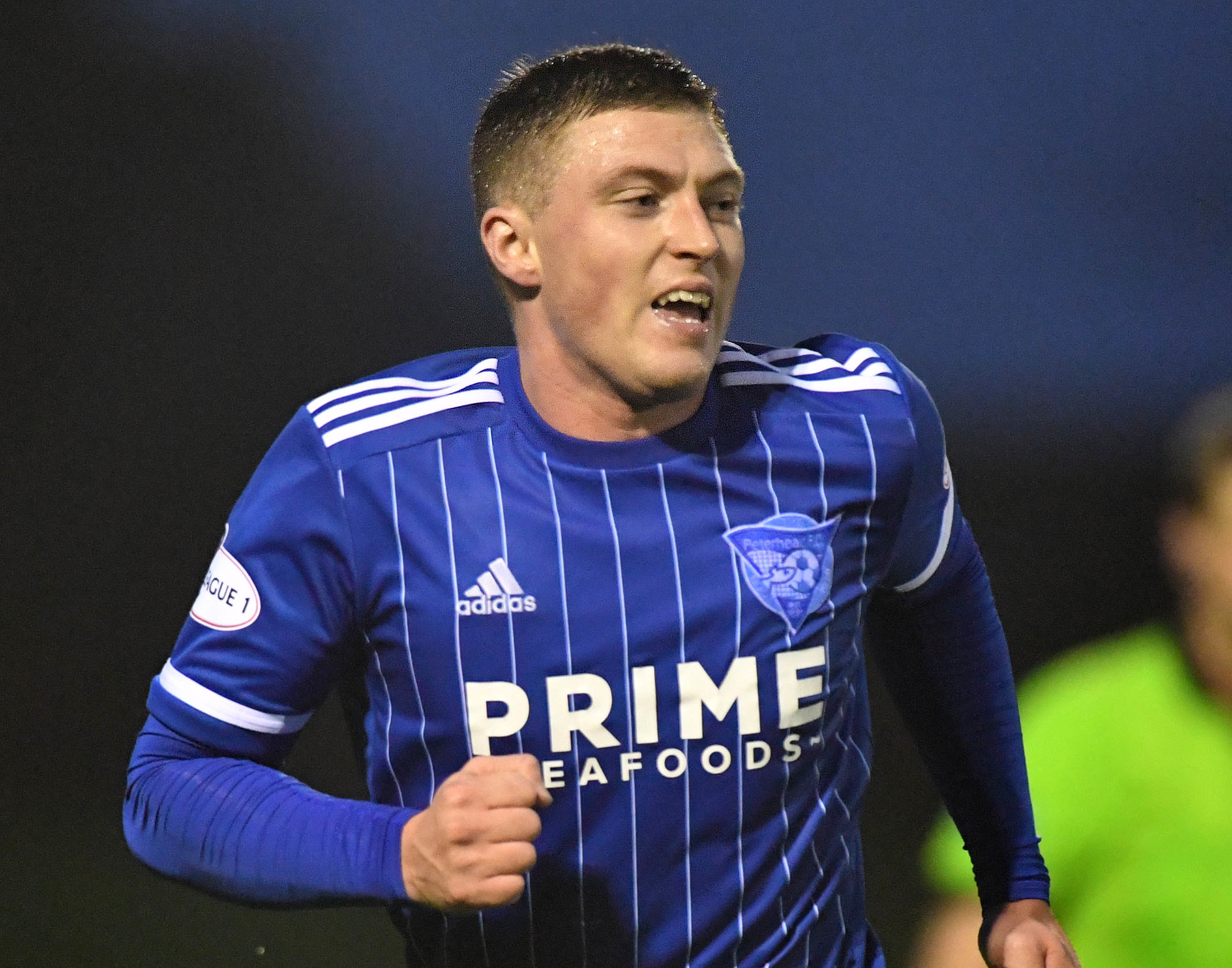 Peterhead midfielder Gary Fraser