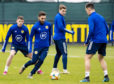 Graeme Shinnie training with Scotland.