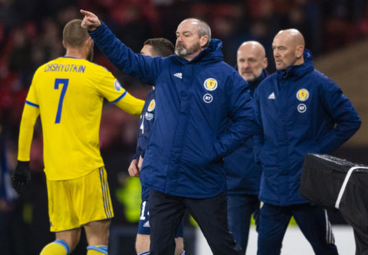 Scotland manager Steve Clarke during the UEFA European Championship qualifier between Scotland and Kazakhstan.