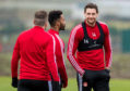 Ash Taylor during Aberdeen training at Cormack Park, on November 22, 2019, in Aberdeen, Scotland.