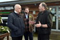 Pictured are from left, John Swinney (Deputy First Minister), Fergus Mutch (SNP candidate for West Aberdeenshire & Kincardine) and Gordon Henderson (Owner of Foxlane Garden Centre) at Foxlane Garden Centre, Westhill.