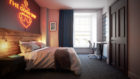 Rooms are fully dog-friendly, with dog beds and treats on offer