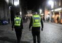 Police officers on patrol in Belmont Street