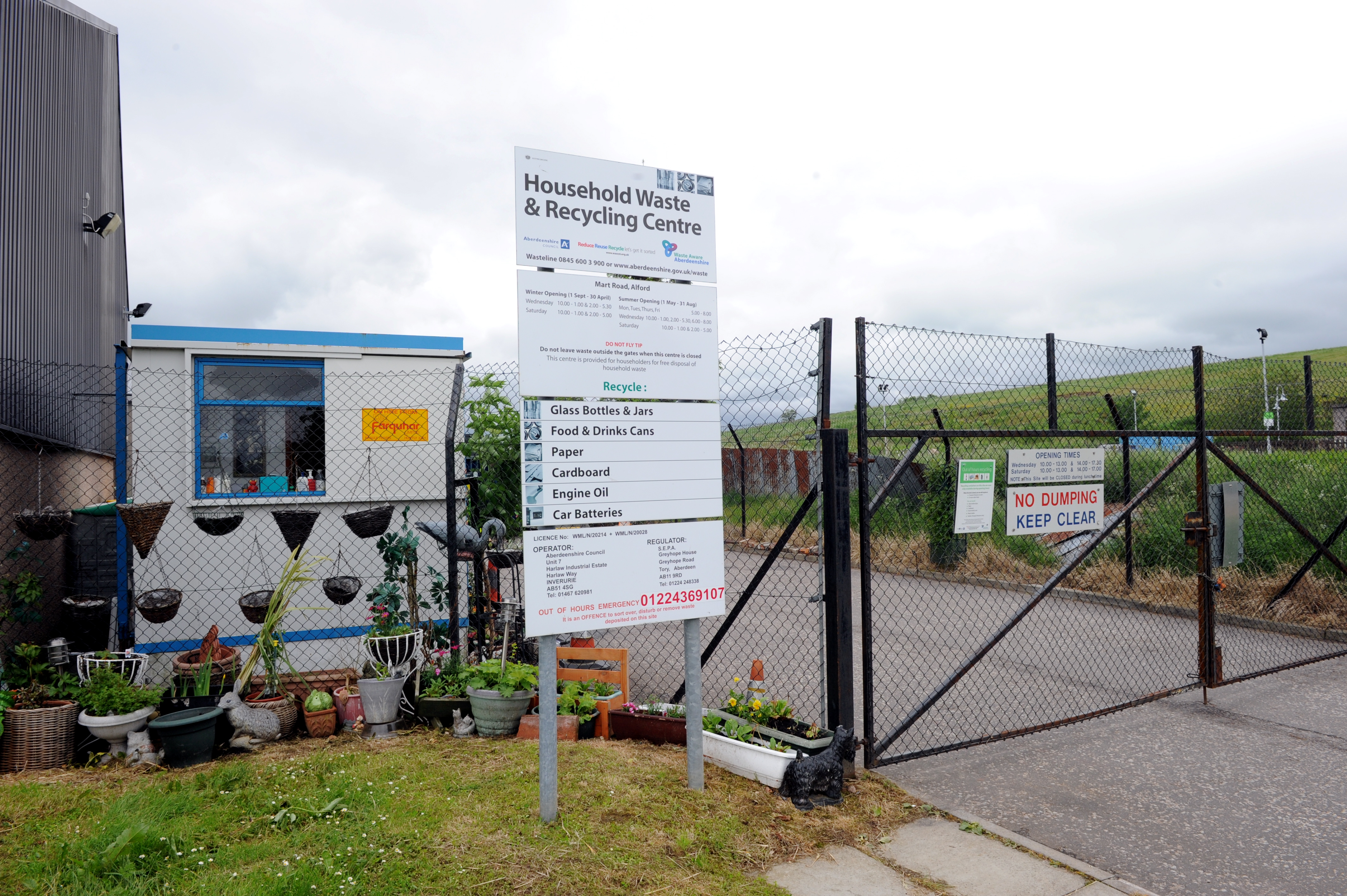The Alford recycling centre
