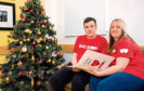 Mark Hunter and mum Karen at the Scottish National Blood Transfusion Service Christmas Launch at Aberdeen Donor Centre