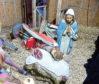 The damaged nativity scene