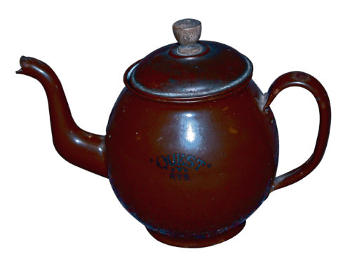 The historic teapot from Shackleton's ship, Quest