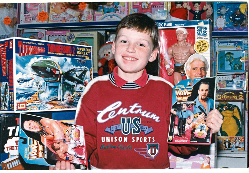 Nine-year-old Martyn Leitch from Westhill and his sister were let loose in Aberdeen's Toy Bazaar where Thunderbirds, Trolls and Barbies proved popular