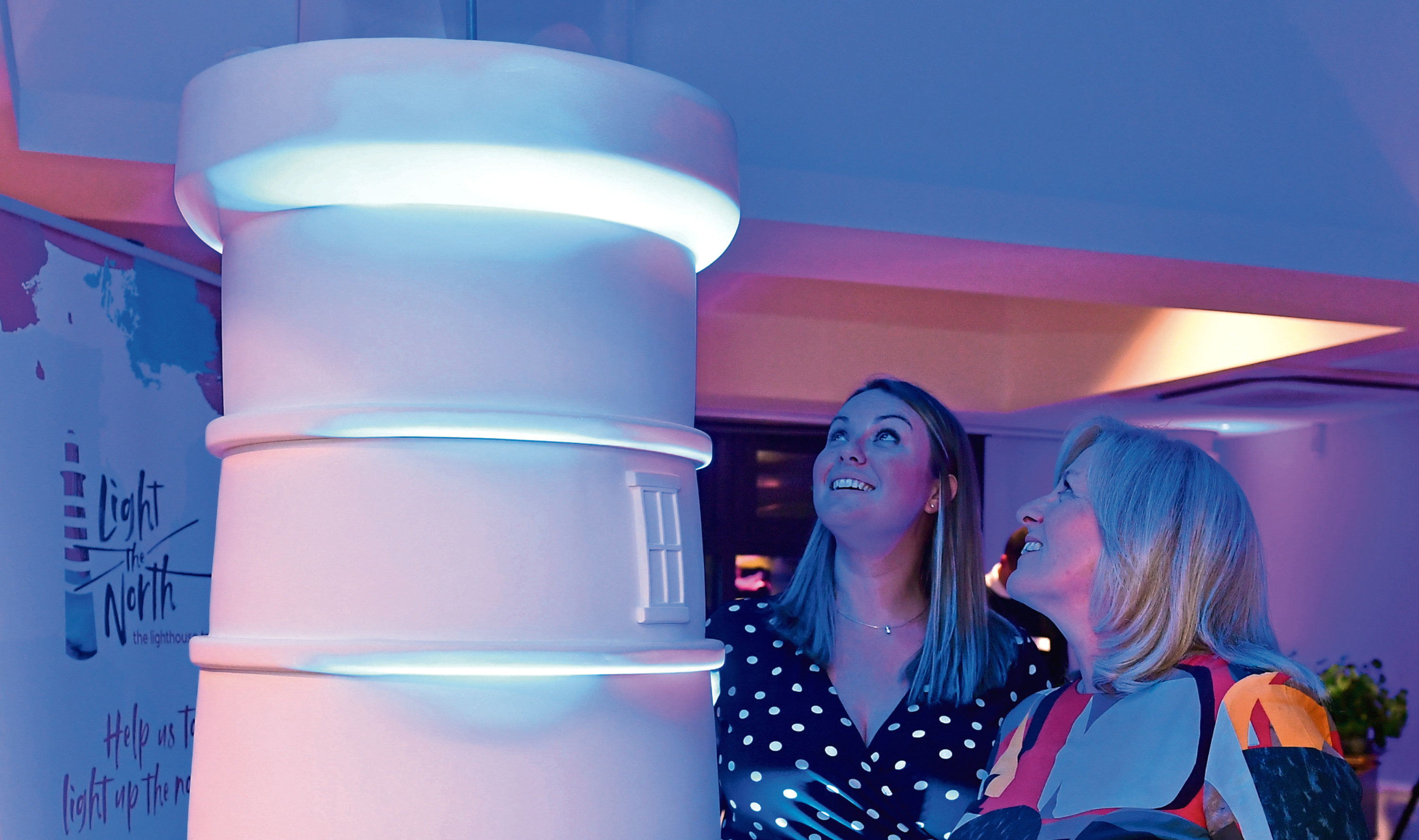 Clan and Wild in Art have postponed Light the North. Left, Fiona Fearnie head of income and project director of CLAN and Colette Backwell chief executive of Clan