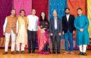 Saravanakumar Kanakarajan, left, with the Aberdeen Hindu Temple Trust Committee