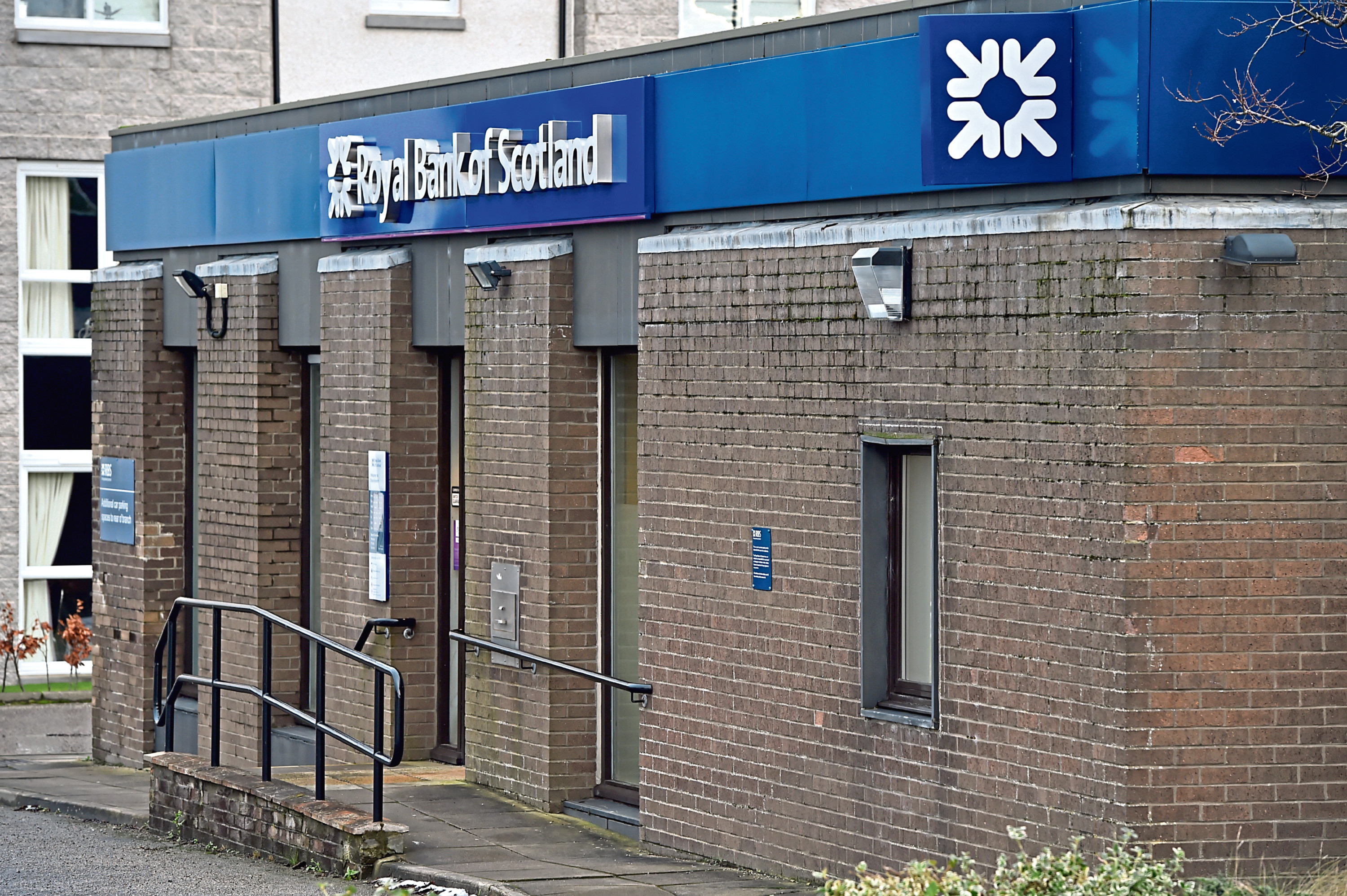 The former Royal Bank of Scotland on Burnside Road, Dyce