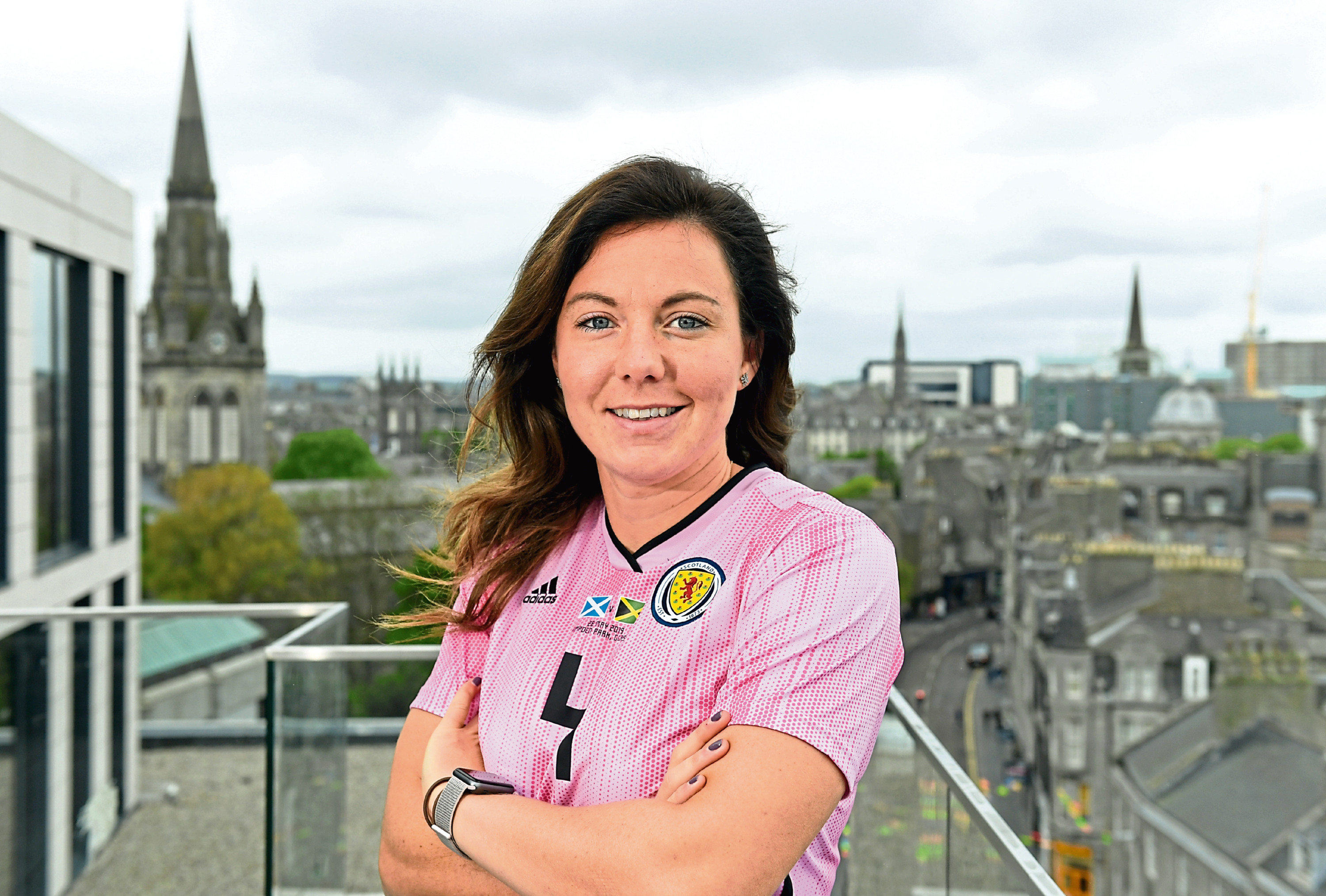 Scotland captain Rachel Corsie paid tribute to pupils at St Margaret's.