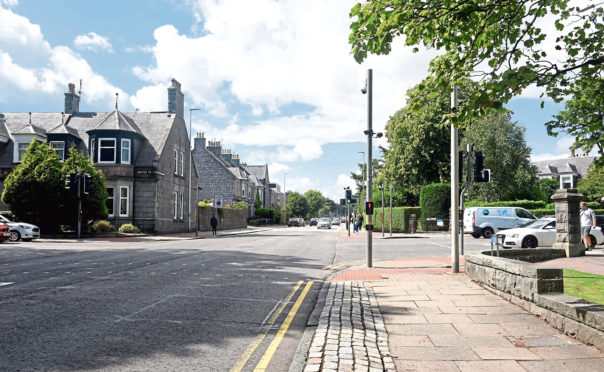 A section of Westburn Road is to be one-way for several days next month