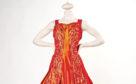 Orange Taffeta Dress