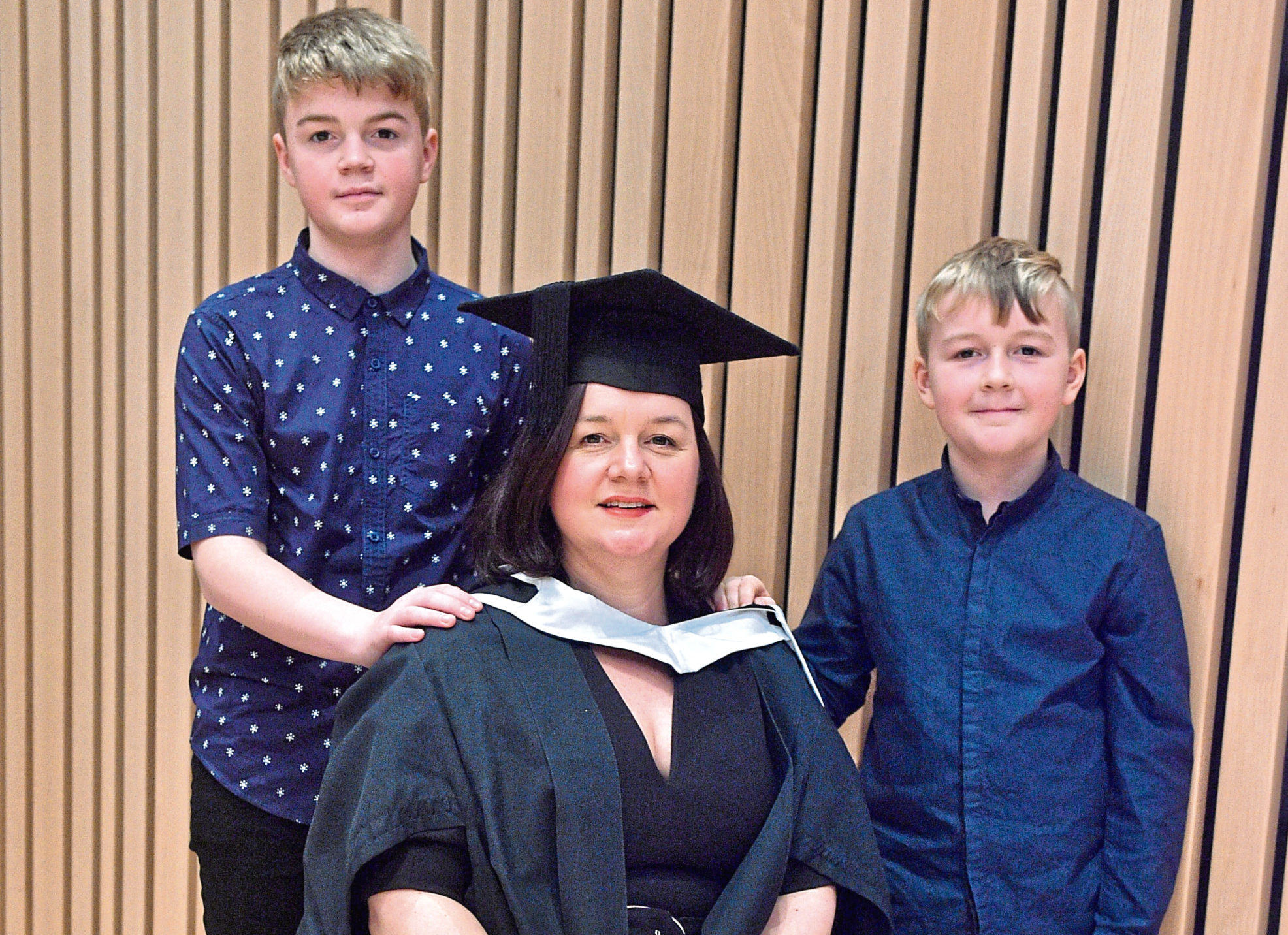 Charlotte McLean with  sons Callum and Ioan